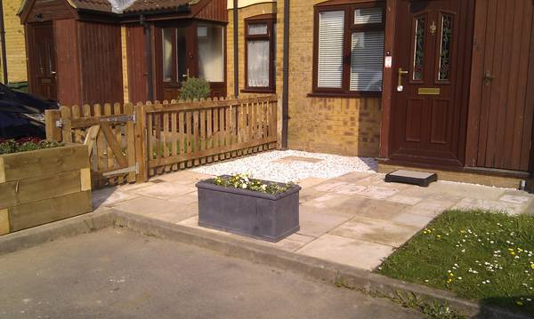 Front garden makeover Aylesbury after