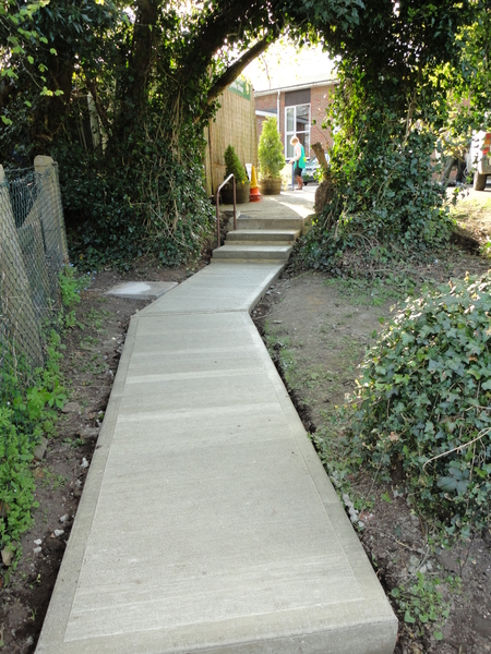 Concrete path and steps