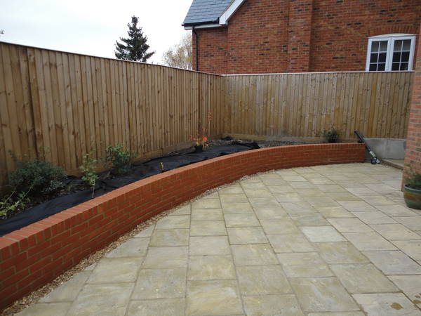 Retaning wall and Patio in Tring