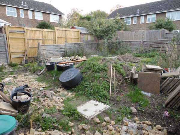 Complete garden makeover before