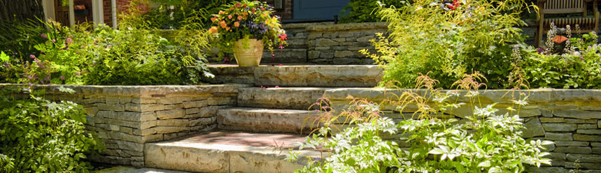 Garden landscaping - rockery and patio - Grange-over-Sands-Click here to find out more